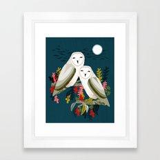 Two Owls by Andrea Lauren Framed Art Print