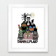 Dawn of the Plaid Framed Art Print