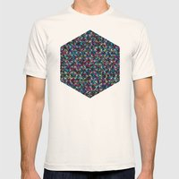 Stardust Geometric Art Print. Mens Fitted Tee Natural SMALL