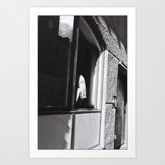 Girl at the window, Stockholm 2012 Art Print