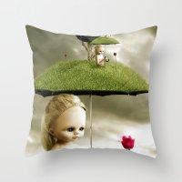 Eve's Umbrella Throw Pillow