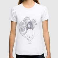 Company Of Wolves Womens Fitted Tee Ash Grey SMALL