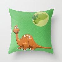 Dino Doodle Throw Pillow