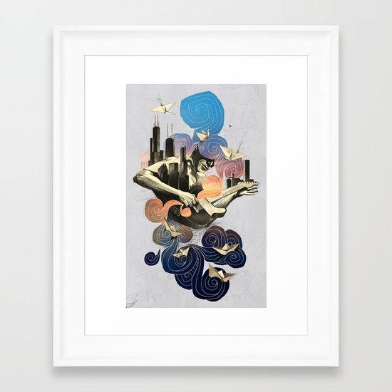 Lake and Sky Framed Art Print