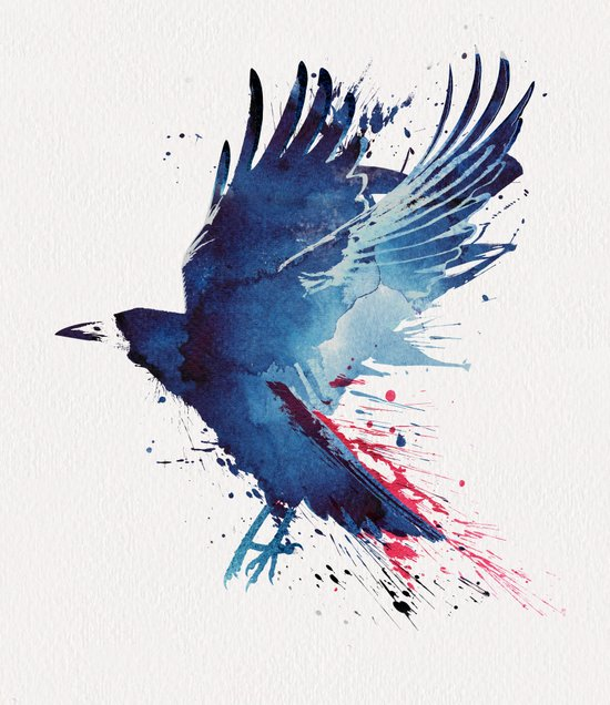 Bloody Crow Canvas Print