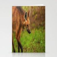 Wolf Strut Stationery Cards