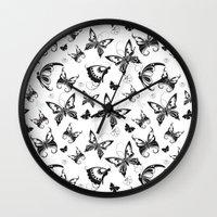Butterflies in Flight 2 Wall Clock
