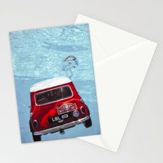 deep water swimming mini #1 Stationery Cards