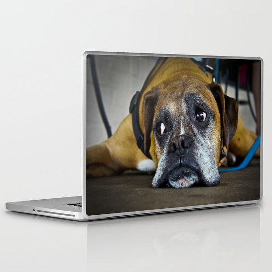 curious doggy Laptop & iPad Skin