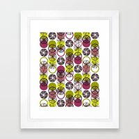 Black Border Abstract Circles Framed Art Print