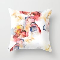 Abstract WWater Colour Throw Pillow
