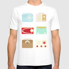 Radios SMALL Mens Fitted Tee White