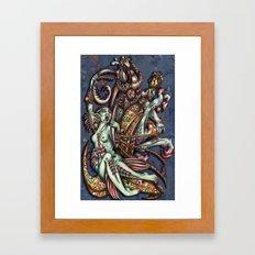 Mentalice and the White Rabbit Framed Art Print