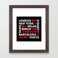 I Love This City Typography Black Framed Art Print