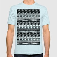 TRIBAL MONOCHROME Mens Fitted Tee Light Blue SMALL