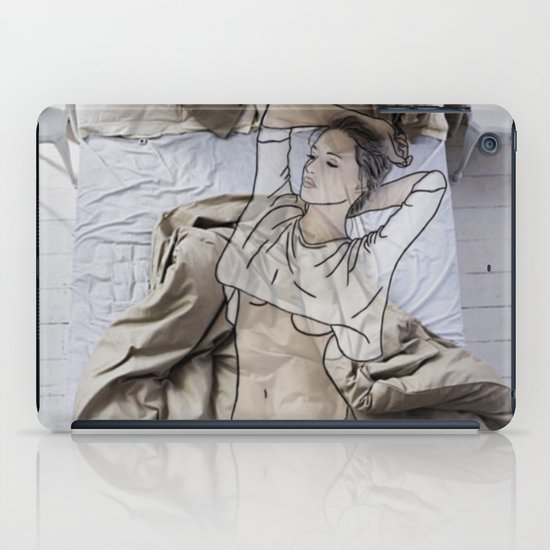 A day in bed iPad Case