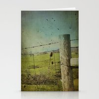 Wild West Fence  Stationery Cards