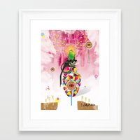 Monitored Framed Art Print