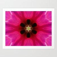 Pink Flower Abstract Art Print