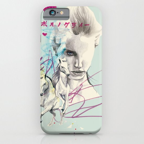 Running with horses iPhone & iPod Case