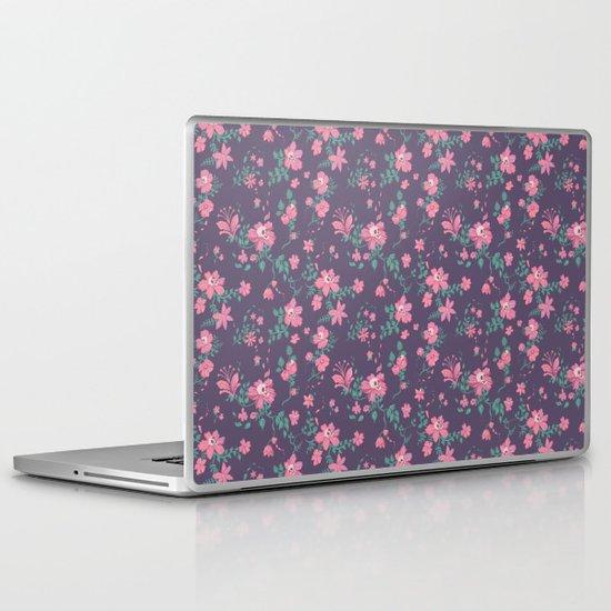 Flowers and Skulls Laptop & iPad Skin