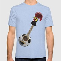 fado, soccer,and a cock from barcelos Mens Fitted Tee Tri-Blue SMALL
