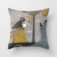 Day On The River Throw Pillow
