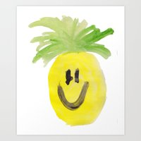 Just Mr. Pineapple Art Print