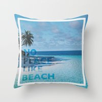 NO PLACE LIKE BEACH Throw Pillow