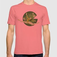 Green Mens Fitted Tee Pomegranate SMALL