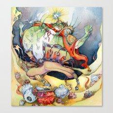 Ming Blowfish Canvas Print