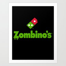 Zombino's Pizza Art Print