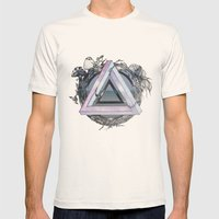 Form and Content Mens Fitted Tee Natural SMALL