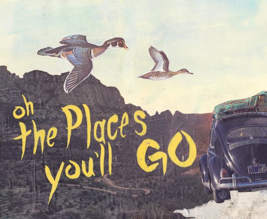 Oh the places  you'll go Canvas Print