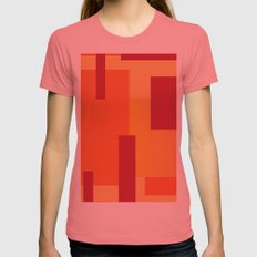 Fire Sun  Womens Fitted Tee Pomegranate SMALL