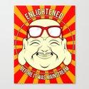 Hipster Budai Canvas Print