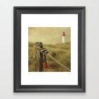 To The Lighthouse (textu… Framed Art Print
