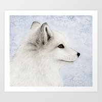 Polar Fox Profile Art Print