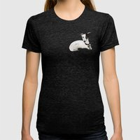 Greyhounds Womens Fitted Tee Tri-Black SMALL