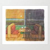 Diner Days, Diner Nights Art Print