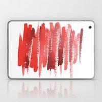 Red Strokes Laptop & iPad Skin