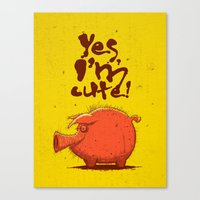 I'm Cute! Canvas Print