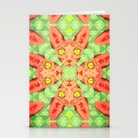 Sphynx Cat Pattern Stationery Cards