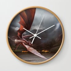 Smaug Burns Lake-Town Wall Clock