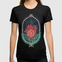 Pulsatilla Patens Womens Fitted Tee Tri-Black SMALL