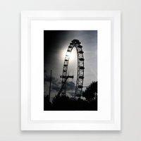 London At Dusk Framed Art Print