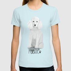 A Dogs Life - Poodle Womens Fitted Tee Light Blue SMALL