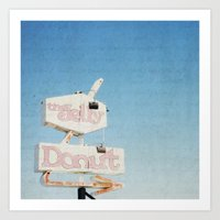 the jelly donut Art Print