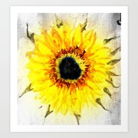 Sunflower from Water Art Print