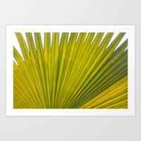 bright green flora Art Print
